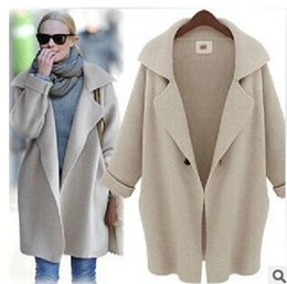 Discount Long Grey Sweater Coats Women | 2017 Long Grey Sweater