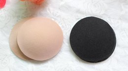 Wholesale Sexy Breast Petals Pasties Self Adhesive Round Shaped Fabric Nipple Covers Silicone Invisible Bra