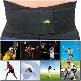 Wholesale New Adjustable Sports Safety Neoprene Elastic Adjustable Waist Protection Widened Gym Exercise Support Band Strap Bandage