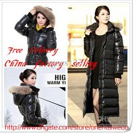 Wholesale Warm Down Jacket Lady s Winter Parka coat Women s Long over the knee thickening long design down coat new top sale free