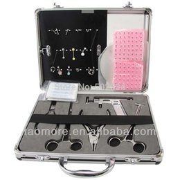 Wholesale High Quality Body Piercing Jewelry Real Kit for Navel Ear Tongue Tattoo Supplies tattoo piering kits