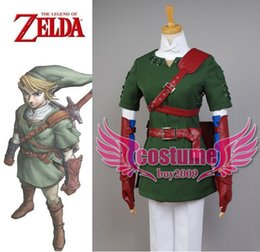 Wholesale The Legend of Zelda Link Cosplay Costume Outfit Uniform