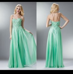 Wholesale Lime Green Bridesmaid Dress Sweetheart Applique Beaded Ribbon Sash A Line Zipper Long Chiffon Cheap Wedding Party Gown Prom Dress Vestido VP