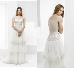2016 princess ball gowns wedding dresses vintage lace applique bateau wedding dresses cap sleeves sexy tiered designer wedding gown cheap designer wedding