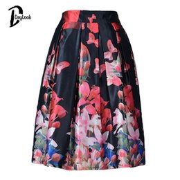 Black Floral Skater Skirt Online | Black Floral Skater Skirt for Sale