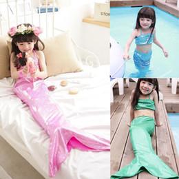 Wholesale Princess Baby Kids Girls Mermaid Swimwear Dress Pieces Set Suit Costume Clothes