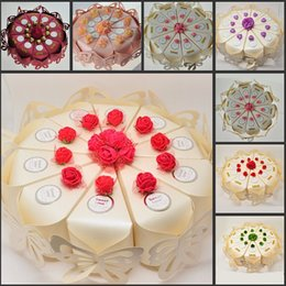 Wholesale 2015 New Arrival Wedding Centerpieces Cake Shaped Candy Favor Boxes Butterfly Design Decor Paper Candy Box For Wedding Decoration Supplies