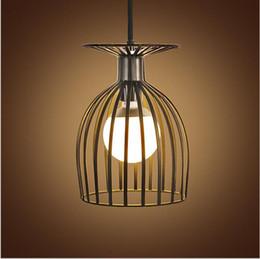 vintage iron led pendant light e27 birdcage industrial pendant lights hanging lamp for bar cafe restaurant living room fixtures cafe lighting and living