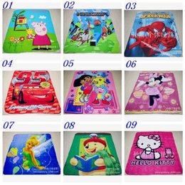 Wholesale 50pcs AAAA quality styles New creative Minecraft Blanket Cartoon Kids Blankets Spiderman Princess Mcqueen cartoon blanket
