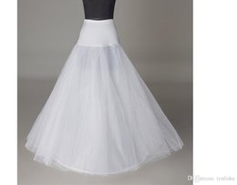 Wholesale In Stock New White Layer One Hoop Petticoats Simple Polyester Crinoline Underdress High Quality for A Line Wedding Dress