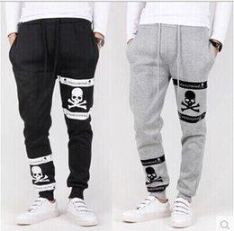 Wholesale 2014 New Winter thicken Plus Velvet Skull Printed Mens Jogger Pants Outdoors Sweatpants For Men Warm Sport Pants Men Cargo Pants