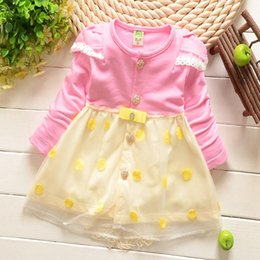 Wholesale Korean children clothes baby girl s lace dress newborn baby skirts kids dresses child infant clothing