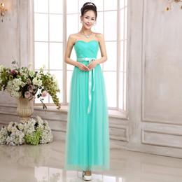 Wholesale 2015 Bride wedding bridesmaid dress long paragraph Bra chest wrapped dress banquet evening dress factory outlets