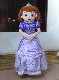 Wholesale Hot Selling EVA Adult Size Sofia the First Mascot Costume Sophia Cartoon Character Costumes Fancy Dress Suit