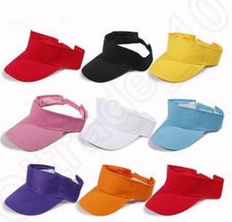 8 дизайн солнцезащитный козырек Cap Регулируемая Спорт Теннис Гольф Оголовье хлопок Hat Snapback шапки регулируемые команды забрало шлема KKA33 20pcs