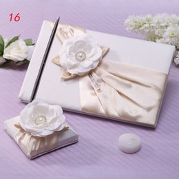 Wholesale Wedding Supplies Guest Books Pen green with flower and bead GuestBooks