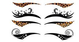 DELIRIO PUNKY temporal Delineador de ojos Delineador de ojos Sticker Transferencia de maquillaje tatuaje pegatinas instantánea