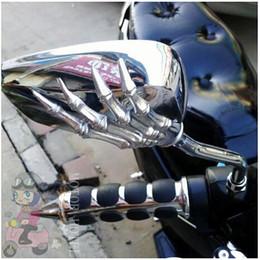 Бесплатная доставка абсолютно новый мотоцикл Зеркало Chrome Мотоцикл Череп Зеркало 8MM, 10мм для типа Harley Softail Dy Универсальная свободная перевозка груза