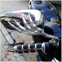 Crânio da motocicleta frete grátis Marca New Motos Espelho Chrome espelho 8 mm, 10 milímetros Para Harley Softail Dy Universal frete grátis Tipo