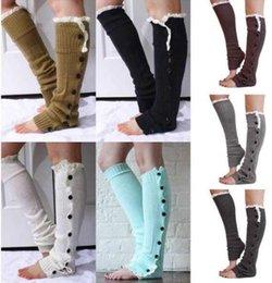 Wholesale Newest Christmas Women Socks Keep Warm Fastener Crochet Kint Lace Flowers Leg Warmer Leggings Socks