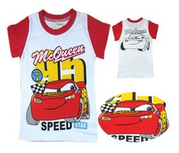 Wholesale 2014 Popular Cute Baby Girls Boys Camiseta Mouse Chemisier Movie Car Cotton T Shirts Cute Tops Tees Kids Children Clothes