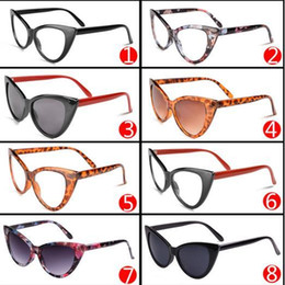 cheap womens sunglasses online xpwy  Fashion Classics Retro Women Sunglasses Sex Cat Eye Pattern Sunglasses UV  400 PC Frame Mix Colors