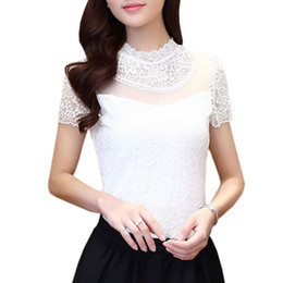 Discount Cute Lace Collar Blouse | 2017 Cute Lace Collar Blouse on ...