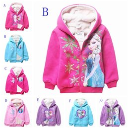 Wholesale Winter frozen girls coat elsa anna children clothes thicken warm kids clothing girl outwear girl clothes DHL FAST SHIPPING FREE