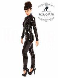 Wholesale Al por mayor más trajes tamaño de Cosplay para las mujeres balck Catwoman atractivo látex traje adulto sirena traje de goma P813 media del cuerpo