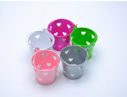 Wholesale Wedding Favor Boxes hollow Peach Hearts originality tin bucket Gift box Candy box DIY chocolate boxes favor holders