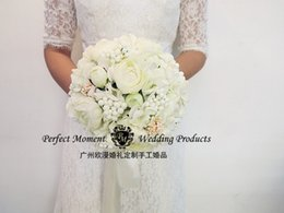 Wholesale Charming Beautiful Wedding Bride Bouquet Artificial Beach Flowers Bridal Bouquets Special Occasions Luxury Style