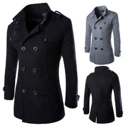 Discount Military Double Breasted Trench Coat   2017 Military