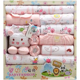 Wholesale winter newborn baby clothes cotton pieces unisex baby newborns clothing sets gift suits Infants baby product