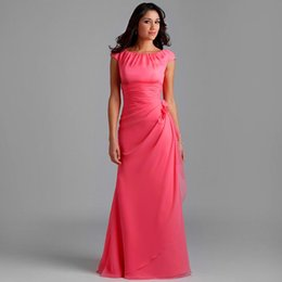 Modest Coral Bridesmaid Dresses - Missy Dress