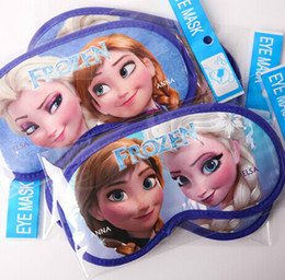 Wholesale Frozen Elsa Anna Eye Patch Mask Sleeping Mask Blindfold Travel Shade Padded Sleep Aid Eye Cover Children Studentversion Christmas Gift New