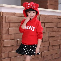 Wholesale The quot MINI quot wording MICKEY Mouse children s clothing Minnie Mouse dress girl suit skids sets clothes
