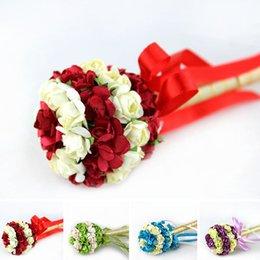 Wholesale Wholesales Hot Wedding Favors Party Guest Pens Flower Rose Romantic Wedding Signature Pen Wedding Decoration Items JM0043 Smileseller