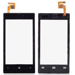 Nouveau numériseur d'écran tactile noir avec cadre pour Nokia Lumia N520 Livraison gratuite B0290