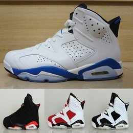 2016 high quality air retro VI mans Basketball shoes Angry bull Carmine Infrared Oreo WhiteInfared Black sport blue Olympic Sale sneakers online