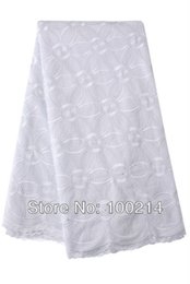 Wholesale hot sale new heavy African swiss voile lace fabric high quality cotton for wedding with stone white TKL8898