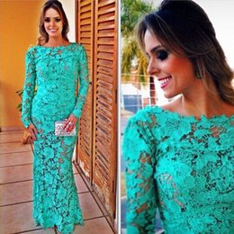 Wholesale 2015 Women Wedding Prom Club Party Dress Backless Hollow out Perspective Lace One piece Evening Dress Floral Sexy Maxi Dresses Aqua Green