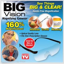 Wholesale Big Vision Light Rimless Magnifying Reading Glasses Eyewear Unisex Quality Lens Magnifying Glasses Presbyopic Elder Glasses LJJE492