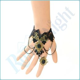 Wholesale Handmade Sexy Lace Enticing Floral Chain Bangle Bracelet Lady Jewellery Sexy Lingerie Costumes Accessories