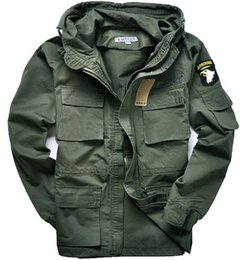 Wholesale Military style hooded jackets for men pilot coat usa army air force bomber outdoor M65 jacket