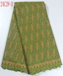 Wholesale top heigh quality cotton lace fabric SC28 african cotton lace yards