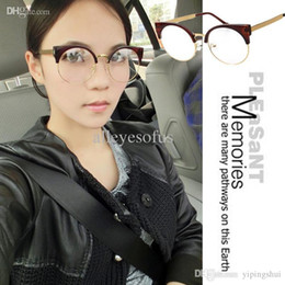 2015 fashion vintage optik prescription cat eye glasses frames half frame optic glasses woman free shipping