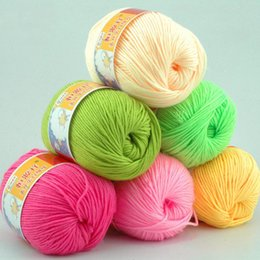 Wholesale Balls g Soft Silk Fiber Cashmere Wool Yarns For Kids Eco friendly Dyed Baby Yarn For Knitting
