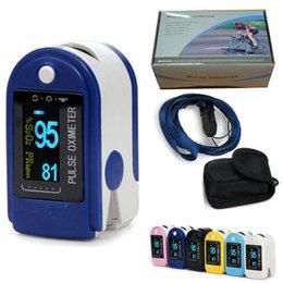 Wholesale 2015 New FDA CE Finger Pulse Oximeter spo2 PR Fingertip Oxygen Monitor SPO2 PR CMS50D