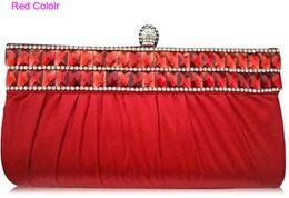 Wholesale Fashion Crystal Wedding Hand Bag Gold Bridal Clutch Rhinestone Brial Handbag Bridesmaid Girl Handbag Evening Bags