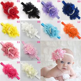 Wholesale New Arrivals Infant Baby Girls Children s Hair Accessories Headband Hair Band Headwear Sweet Fabric Flower Candy Colors EA15